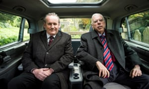 Colm Meaney as Martin McGuinness with Timothy Spall as Ian Paisley in The Journey.