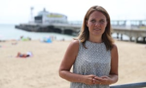 Leader of Bournemouth, Christchurch and Poole Council, Vikki Slade, near Bournemouth pier on Friday.