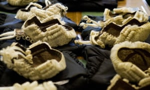 Barrister's wigs and robes on a table