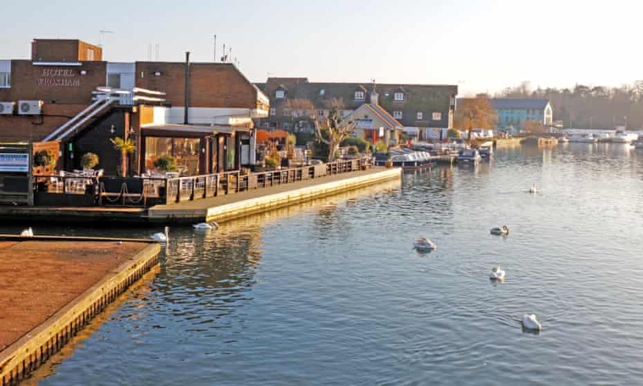 Take a broad view: the River Bure and Hotel Wroxham.