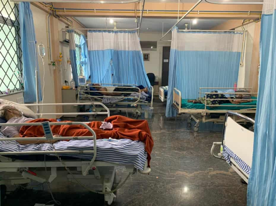 A Covid ward in hospital in Bangalore where the doctor was working