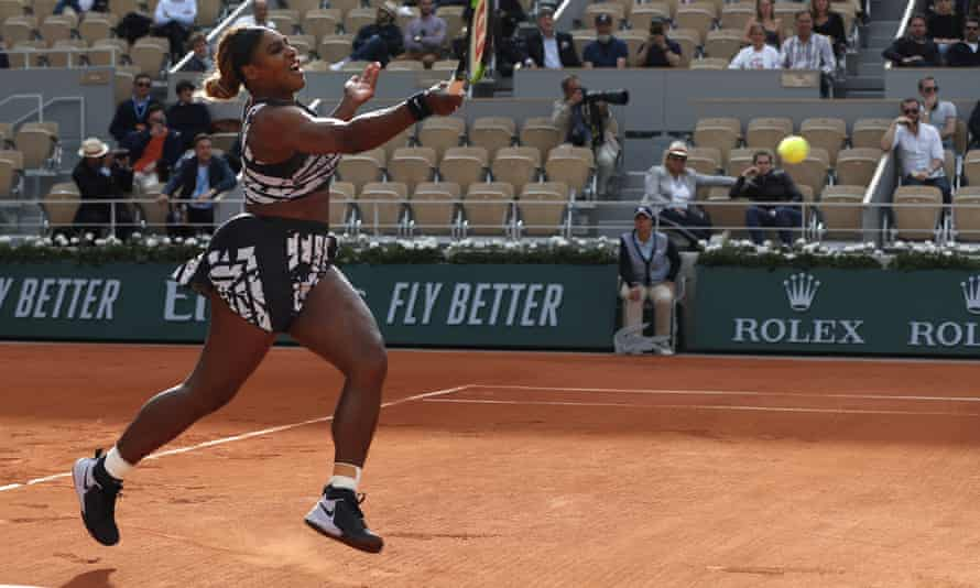 Serena Williams faced Vitalia Diatchenko in the opening round of the French Open