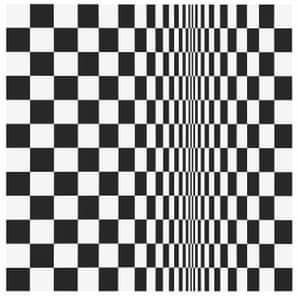 Detail of Movement in Squares, 1961, by Bridget Riley.