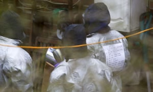 Investigators at Sergei Skripal's house in Salisbury