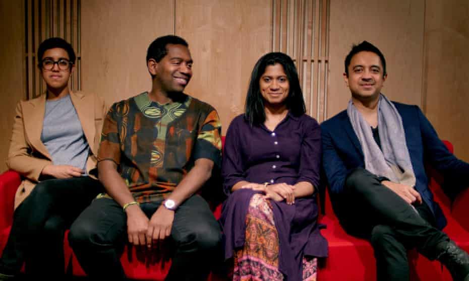 Vijay Iyer, right, and the Ritual Ensemble – Rajna Swaminathan, Yosvany Terry and Ganavya.