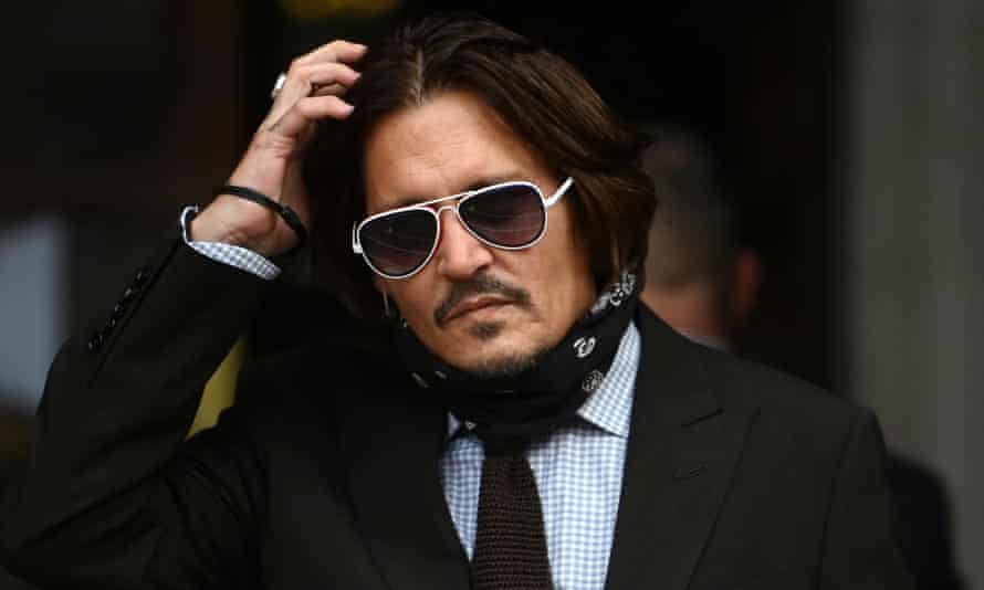 Johnny Depp outside the Royal Courts of Justice in London during the hearing.