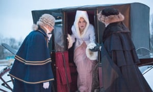 Lily James as Natasha in BBC1's War and Peace