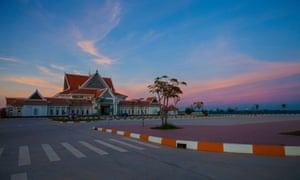 The grand Angkor Panorama Museum, ready and waiting for tourists.