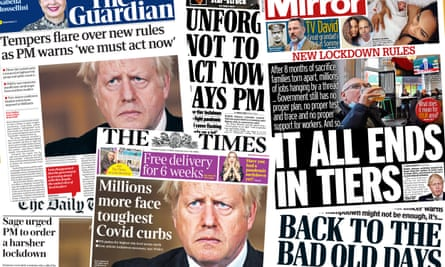 Front pages of the UK papers on Tuesday 13 October
