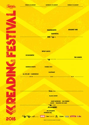 Reading Festival poster showing female acts