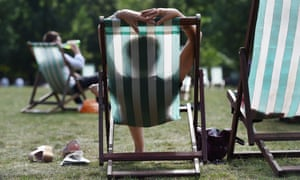 Sunbathers in Green Park, London on 13 September last year – the hottest day of 2016.