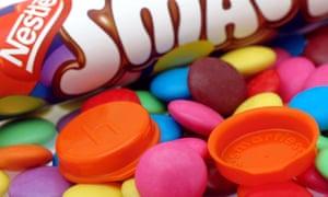Nestlé targets the last of the Smarties plastic caps