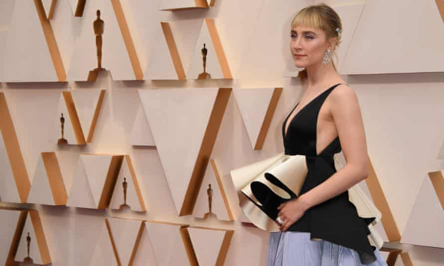 At the Oscars again … Saoirse Ronan at the Dolby Theatre in Hollywood in February 2020.