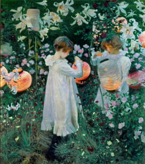 Gloamy incandescence ... John Singer Sargent's Carnation, Lily, Lily, Rose.