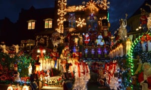 Christmas lights in the Dyker Heights area of Brooklyn.