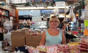 Sweet stall owner Rachel Jones