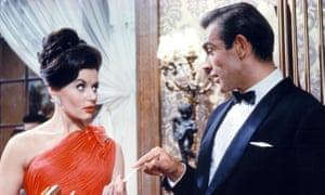Eunice Gayson and Sean Connery in Dr No.