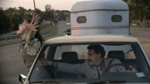 On the road again … Borat and daughter.