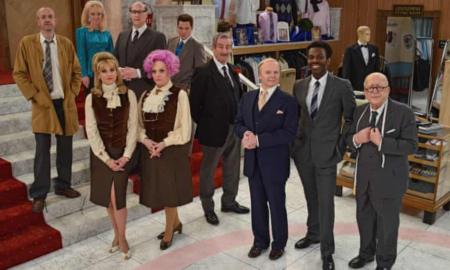The 2016 remake of Are You Being Served? Roy Barraclough played Mr Grainger, right.