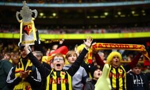Watford fans at Wembley.