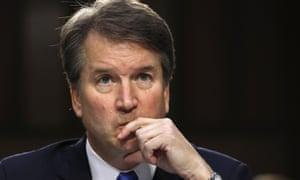 Brett Kavanaugh testifies before a Senate committee