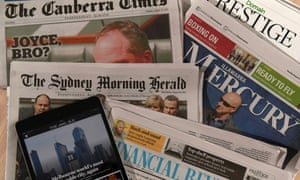 Fairfax ewspaper titles including the Sydney Morning Herald, the Age, the Canberra Times, the Australian Financial Review and the Illawarra Mercury.