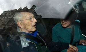 Lord Greville Janner leaves Westminster magistrates' court in London