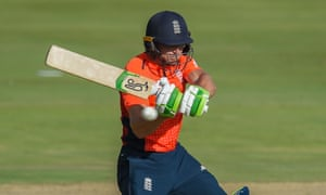 England's Jos Buttler plays a shot during the third and final Twenty20 international against South Africa in Centurion.