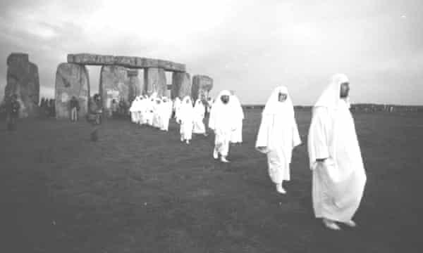 Druids at Stonehenge in 1980.