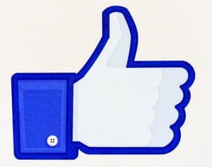 Like symbol on Facebook