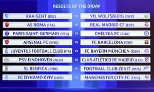 Paris Saint-Germain will face Chelsea for the third season in succession.