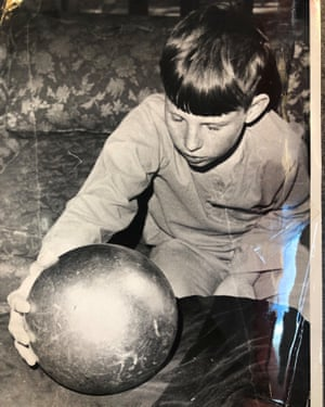 'More than just a weird ball' ... Wayne Betz with the sphere his family found.