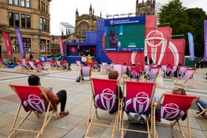 Manchester getting ready for the most anticipated match of the World Cup so far.