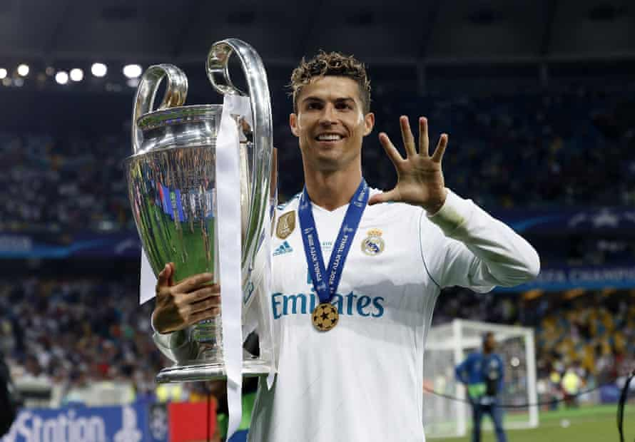 Cristiano Ronaldo after winning his fourth Champions League crown with Madrid.