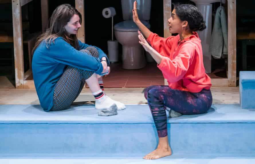 Tanya Reynolds and Rebekah Murrell in Scenes With Girls by Miriam Battye at the Royal Court. Battye is among the nominees for the Women's prize for playwriting.