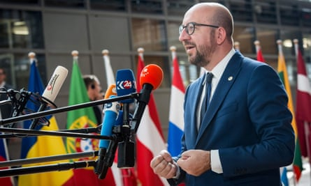 The Belgian prime minister, Charles Michel