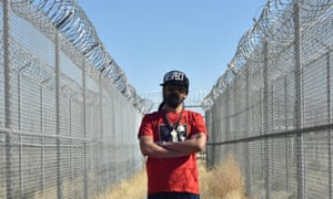 Damian Marley at the prison in Coalinga
