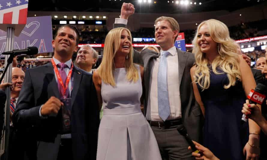 From left, Donald Jr, Ivanka, Eric and Tiffany Trump