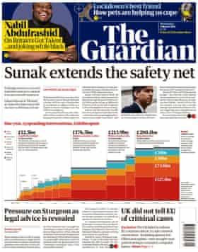 Guardian front page, Wednesday 3 March 2021