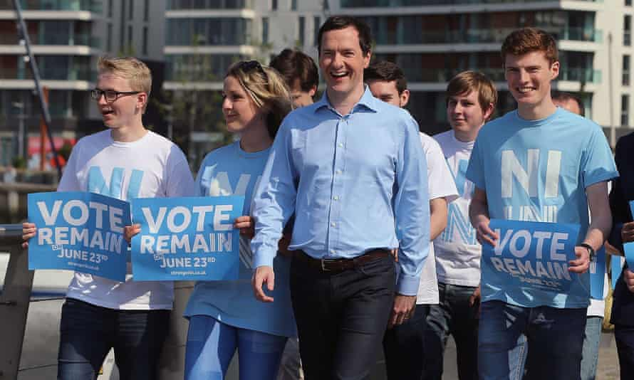 George Osborne during the remain campaign
