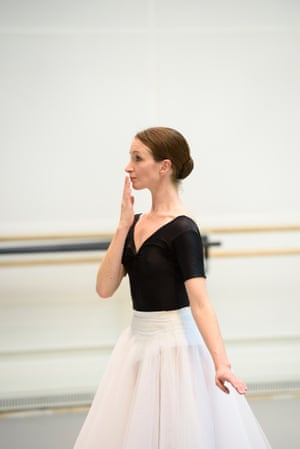Lauren Cuthbertson in rehearsal for The Two Pigeons