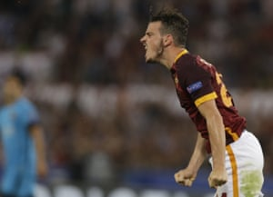 Alessandro Florenzi reacts after missing a scoring chance.