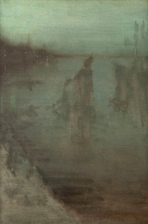 Nocturne, 1875-7 by James McNeill Whistler.