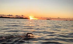 Swimming 45 miles around Jersey