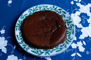 Cooled overnight in the fridge this cake sets into an almost brownie-like consistency that is best eaten in slivers by fridgelight
