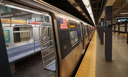 An E train at World Trade Center. The fire in Harlem on the 2 line disrupted service to several train lines.