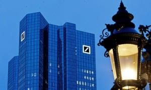 Deutsche Bank headquarters in Frankfurt, Germany.
