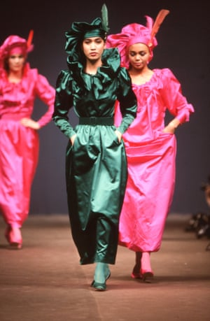 Kenzo's autumn-winter 1984 collection. Shortly after this collection, the brand launched a new line of inexpensive clothes called Album by Kenzo