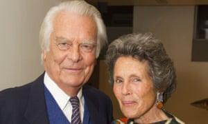'Still a striking couple …' With his wife, Deborah Owen.