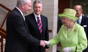McGuinness meeting the Queen in 2012.